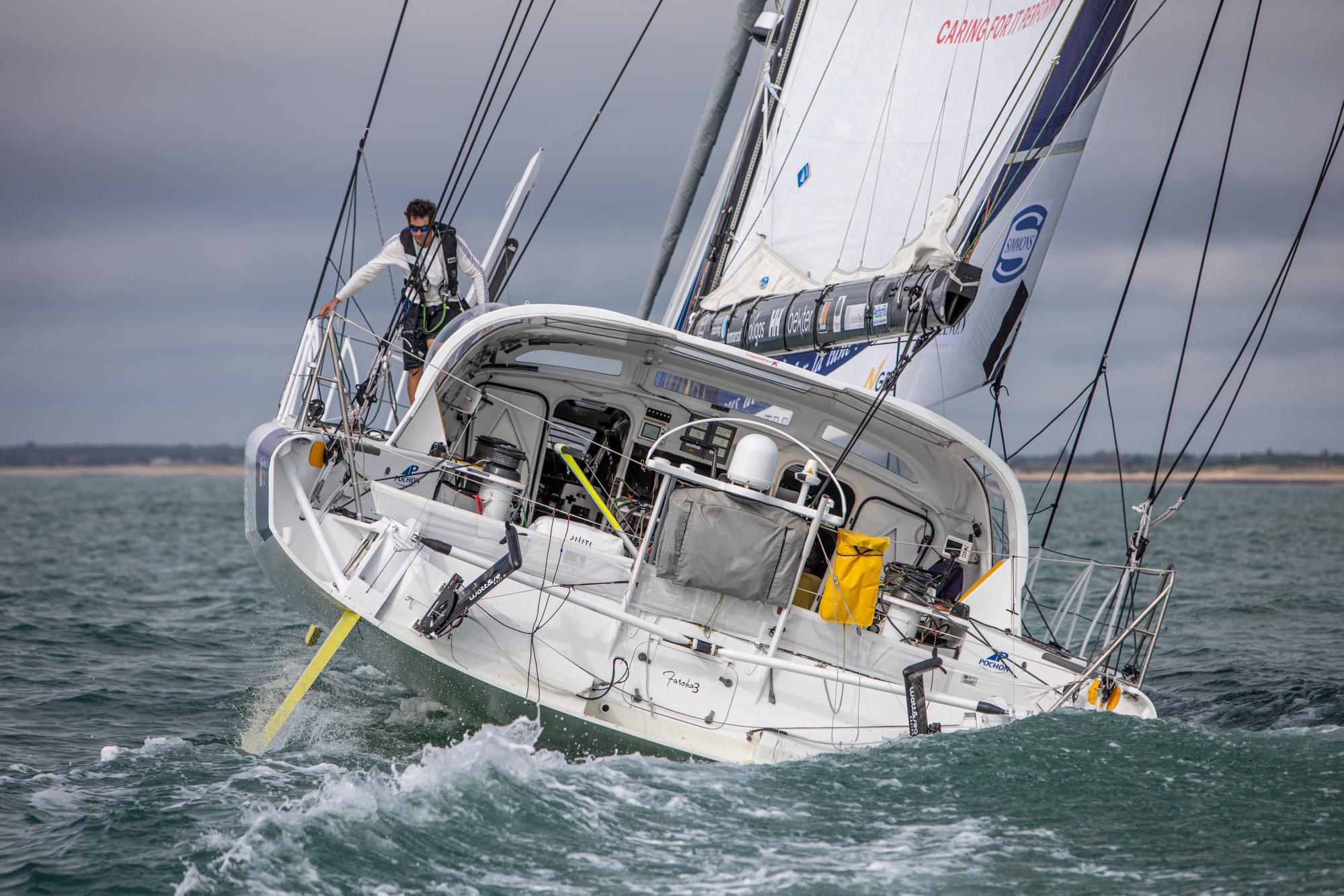 Clément Giraud - Skipper Vendée Globe 2020 - vue de l'arrière © Vincent Olivaud