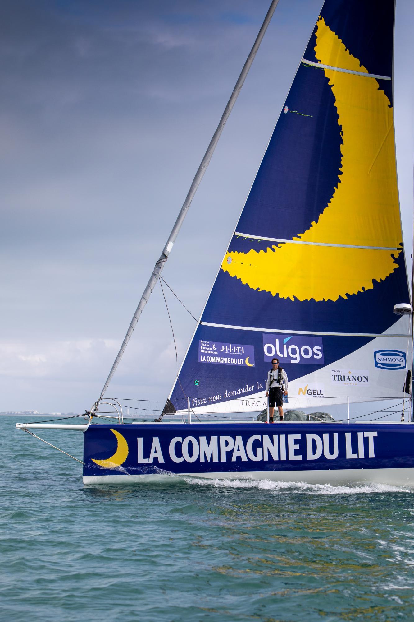 Imoca Compagnie du Lit / Jiliti - Skipper Clément Giraud © Vincent Olivaud