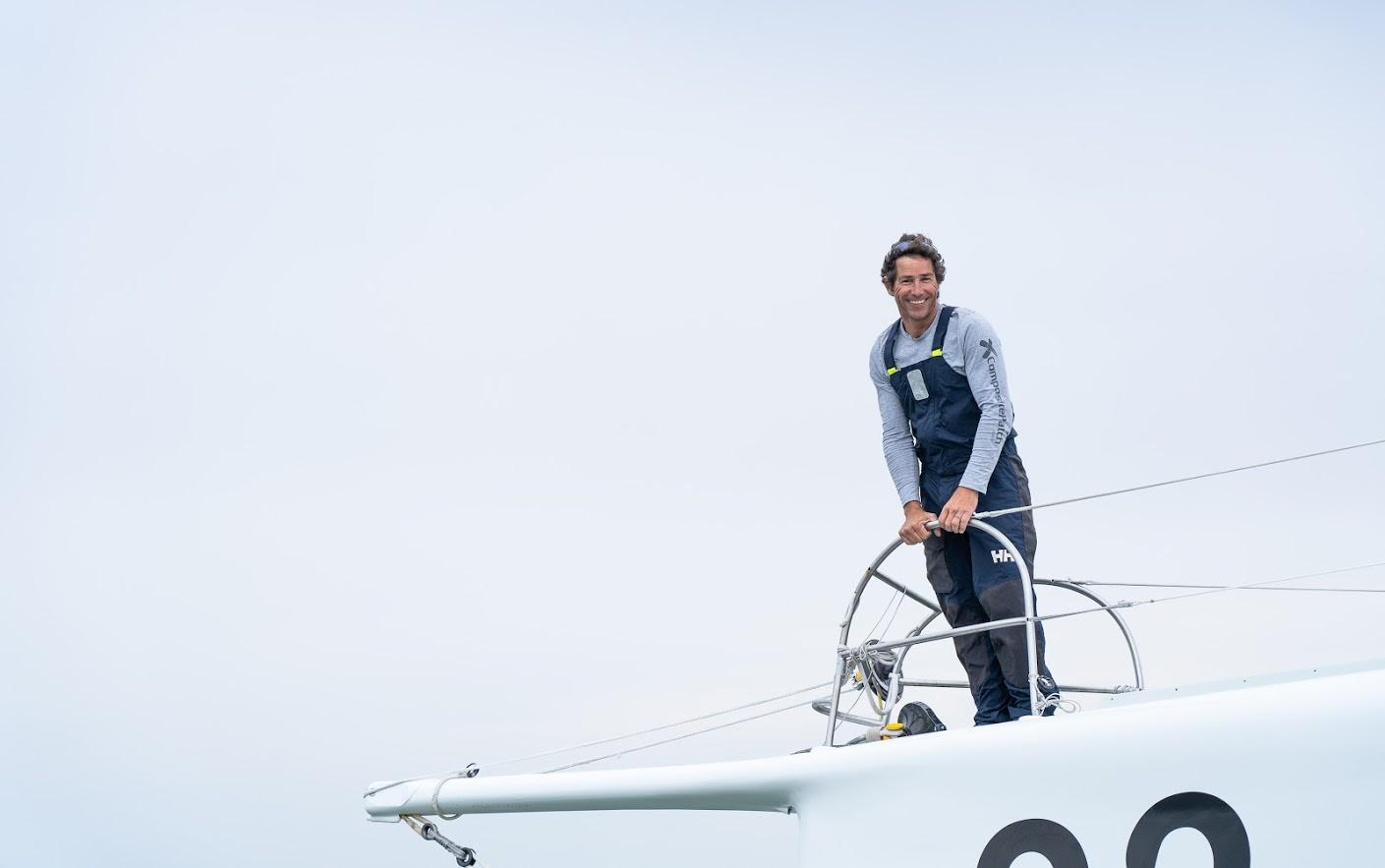 Skipper Clément Giraud - Imoca Vers un monde sans Sida 83 © Maxime.Mergalet